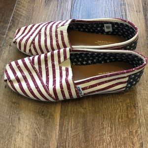 Toms | American Flag Slip on Shoes